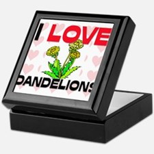 I Love Dandelions Keepsake Box