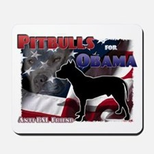 Pit Bulls for Obama Mousepad