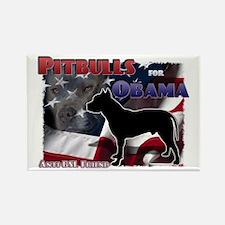 Pit Bulls for Obama Rectangle Magnet