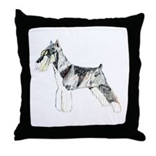 Mini Schnauzer Throw Pillow