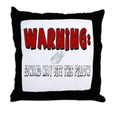 Edward Cullen Bite Throw Pillow