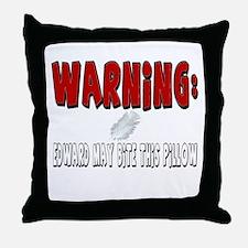 Edward Cullen Bite Throw Pillow