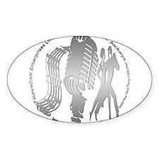 KeysDAN Logo (Brushed Metal) Oval Decal