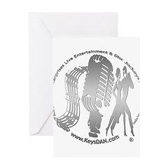 KeysDAN Logo (Brushed Metal) Greeting Card