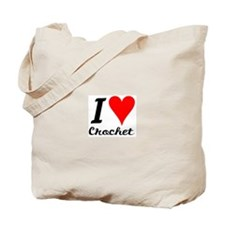 Cute I heart crocheting Tote Bag