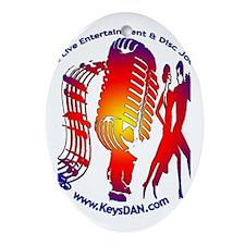 KeysDAN Logo (Color Target) Oval Ornament