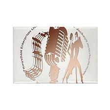 KeysDAN Logo (Copper Tube) Rectangle Magnet