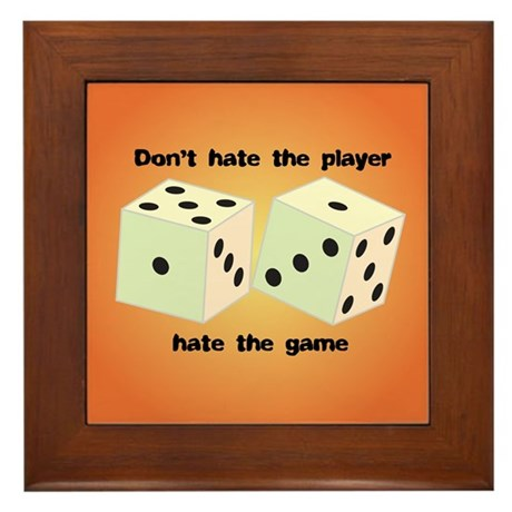 Roll the Dice Framed Tile