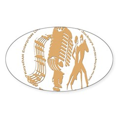 KeysDAN Logo (Dry Mud) Oval Decal