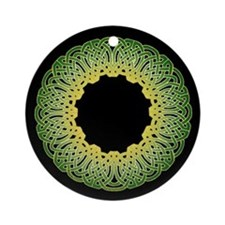 Green Irish Knot 2 Ornament (Round)