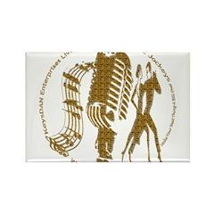 KeysDAN Logo (Molten Gold) Rectangle Magnet (10 pa