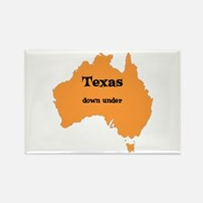 Texas down under Rectangle Magnet