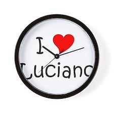 Cute I love luciano Wall Clock