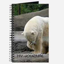Polar Bear Rubbing Nose Journal