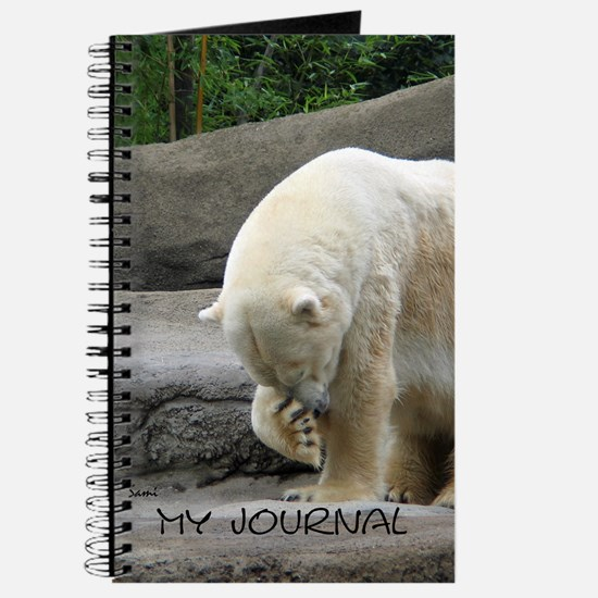 Polar Bear Rubbing Nose Journal
