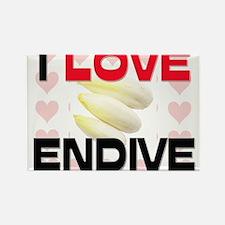I Love Endive Rectangle Magnet