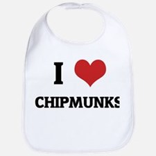 I Love Chipmunks Bib