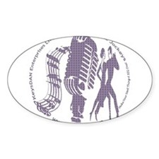 KeysDAN Logo (Purple Clouds) Oval Decal