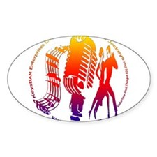 KeysDAN Logo (Rainbow) Oval Decal