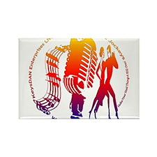 KeysDAN Logo (Rainbow) Rectangle Magnet