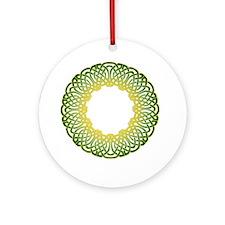 Green Irish Knot Ornament (Round)