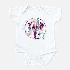 KeysDAN Logo (Red White Blue Infant Bodysuit