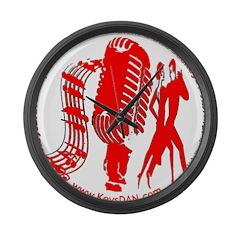 KeysDAN Logo (Red) Large Wall Clock