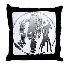 KeysDAN Logo (Rivet) Throw Pillow