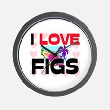 I Love Figs Wall Clock