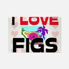 I Love Figs Rectangle Magnet