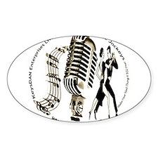KeysDAN Logo (Sepia Tone) Oval Decal
