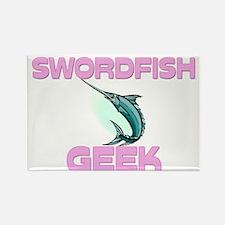 Swordfish Geek Rectangle Magnet