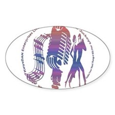 KeysDAN Logo (Sunset Sky) Oval Decal