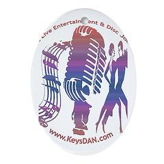 KeysDAN Logo (Sunset Sky) Oval Ornament