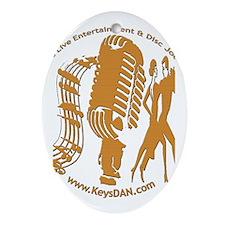 KeysDAN Logo (Woodgrain) Oval Ornament