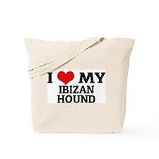 I Love My Ibizan Hound Tote Bag