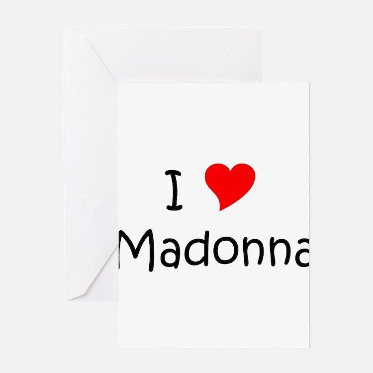Cute Madonna Greeting Card