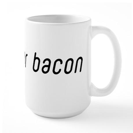 Jews for Bacon Large Mug