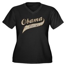 Obama Biden Retro Election Women's Plus Size V-Nec