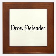 Drow Defender Framed Tile