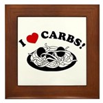 I Love Carbs! Framed Tile