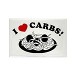 I Love Carbs! Rectangle Magnet