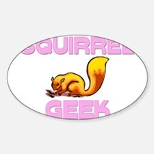 Squirrel Geek Oval Decal