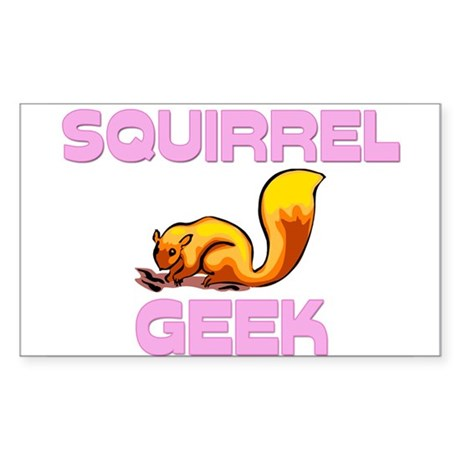 Squirrel Geek Rectangle Sticker