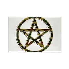 Camouflage Pentagram Rectangle Magnet