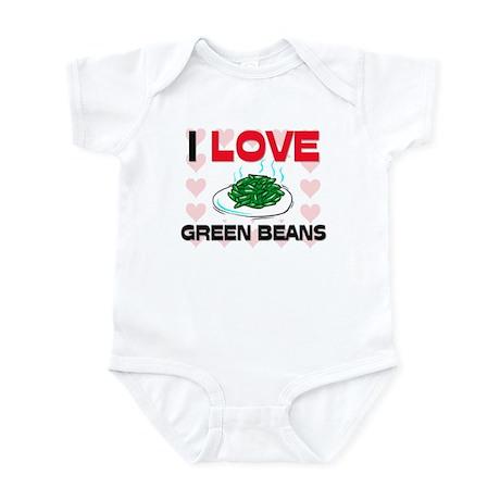 I Love Green Beans Infant Bodysuit