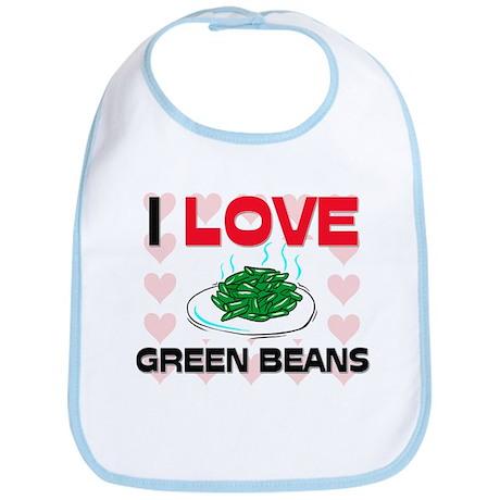 I Love Green Beans Bib