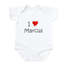 Cute I love marcus Infant Bodysuit