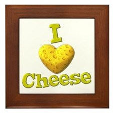 funny cute i heart love cheese cheesey heart Frame
