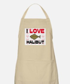 I Love Halibut BBQ Apron
